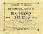 Banknotes Lambres (59). Commune. Billet. 10 francs, émission 1914, série F