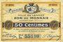 Banknotes Lannoy (59). Ville. Billet. 50 centimes, 3e série