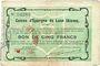 Banknotes Laon (02). Caisse d'Epargne. Billet. 5 francs 31.3.1915