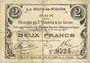 Banknotes Le Hérie-la-Viéville (02). Commune. Billet. S.Q.G., 2 francs 27.10.1917