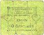 Banknotes Le Quesnoy (59). Ville et Etablissements Charitables. Billet. 10 centimes septembre 1915