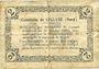 Banknotes Lécluse (59). Commune. Billet. 2 francs, série A, cachet 6 Fev 1916