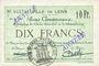 Banknotes Lens (62). Ville. Billet. 10 francs 21.12.1915, deux cachets ANNULE à l'avers et un au revers...