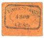 Banknotes Lens (62). Ville. Billet. 5 centimes. Au revers, cachet de la Banque de France avec le n° 4309