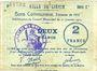 Banknotes Liévin (62). Ville. Billet. 2 francs 31.1.1915, série C1