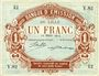 Banknotes Lille (59). Banque d'Emission. Billet. 1 franc 12.3.1915, série Y