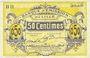 Banknotes Lille (59). Banque d'Emission. Billet. 50 cmes janvier 1915, série BH