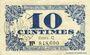 Banknotes Lille (59). Ville. Billet. 10 cmes 31.10.1917, série C