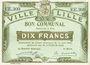 Banknotes Lille (59). Ville. Billet. 10 francs 31.8.1914, série EE