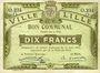 Banknotes Lille (59). Ville. Billet. 10 francs 31.8.1914, série O