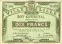 Banknotes Lille (59). Ville. Billet. 10 francs 31.8.1914, série T