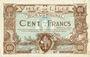 Banknotes Lille (59). Ville. Billet. 100 francs 11.4.1917, série A