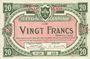 Banknotes Lille (59). Ville. Billet. 20 francs 11.4.1917