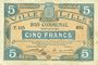 Banknotes Lille (59). Ville. Billet. 5 francs 13.7.1917, série T