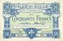 Banknotes Lille (59). Ville. Billet. 50 francs 11.4.1917, série M