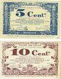 Banknotes Lille (59). Ville. Billets. 5 cmes, 10 cmes 31.10.1917, série A