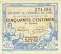 Banknotes Lyon (69). Chambre de Commerce. Billet. 50 centimes 29.7.1920, 17e série
