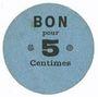 Banknotes Lyon (69). Société Horme et Buire. Billet. 5 centimes