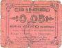 Banknotes Marchiennes (59). Ville. Billet. 5 centimes. Carton rose