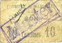 Banknotes Maroilles (59). Commune. Billet. 10 cmes, essai avec cachet MUSTER et annulation manuscrite Annulé