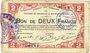 Banknotes Maubeuge & Solre-le-Château (59). Syndicat des Communes. Billet. 2 francs 11.3.1915
