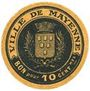 Banknotes Mayenne (53). Ville. Billet. 10 centimes