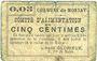 Banknotes Montay (59). Commune. Comité d'alimentation. Billet. 5 centimes