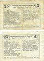 Banknotes Montigny-en-Arrouaise (02). Commune. Billet. B.R.U., 25 cmes (2ex) cachet bleu et violet