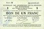 Banknotes Montmédy (55). Syndicat de Communes de la région de Montmédy. Billet. 1 franc 5 et 7.7.1916, série B