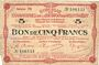 Banknotes Montmédy (55), Syndicat de Communes de la région de Montmédy, billet, 5 francs 24.5.1917, série M