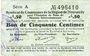 Banknotes Montmédy (55). Syndicat de Communes de la région de Montmédy. Billet. 50 cmes 5 et 7.7.1916, série A