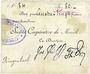 Banknotes Moosch (68). Société coopérative de Moosch. Billet. 80 francs (fin 1914)