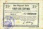 Banknotes Moy (02). Commune. Billet. B.R.U., 25 centimes
