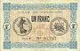 Banknotes Mulhouse (68). Ville. Billet 1 franc 18.12.1918. Série B