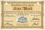 Banknotes Mulhouse (68). Ville. Billet 1 mark 10.9.1914. Annulé par double perforation