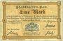 Banknotes Mulhouse (68). Ville. Billet 1 mark 10.9.1914. Non annulé