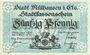 Banknotes Mulhouse (68). Ville. Billet 50 pfennig 1.5.1918. Non annulé