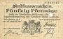 Banknotes Mulhouse (68). Ville. Billet 50 pfennig 27.01.1917. Annulé par perforation
