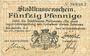 Banknotes Mulhouse (68). Ville. Billet 50 pfennig 27.01.1917. Non annulé