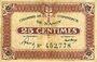 Banknotes Nancy (54). Chambre de Commerce. Billet. 25 centimes
