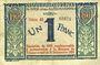 Banknotes Nice (06). Chambre de Commerce. Billet. 1 franc 1920 surchargé sur 25.4.1917, série 43