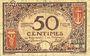 Banknotes Nice (06). Chambre de Commerce. Billet. 50 centimes 25.4.1917, série 57
