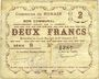 Banknotes Nomain (59). Commune. Billet. 2 francs 27.12.1914, série B