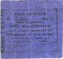 Banknotes Noyon (60). Ville. Billet. 50 centimes 17.12.1915