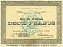 Banknotes Ohain (59). Commune. Billet. 2 francs 31.3.1915