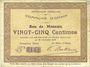 Banknotes Ohain (59). Commune. Billet. 25 centimes 26.1.1915