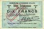 Banknotes Oignies (62). Commune. Billet. 10 francs 30.8.1914, série E, mention annulé à l'encre rouge...