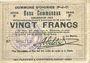Banknotes Oignies (62). Commune. Billet. 20 francs 30.8.1914, série F
