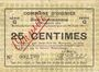 Banknotes Oignies (62). Commune. Billet. 25 centimes 30.8.1914, série G