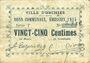 Banknotes Orchies (02). Ville. Billet. 25 centimes émission 1915, série T